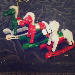 Wooden Rocking Horse 🐎 Christmas 🎄 Ornaments